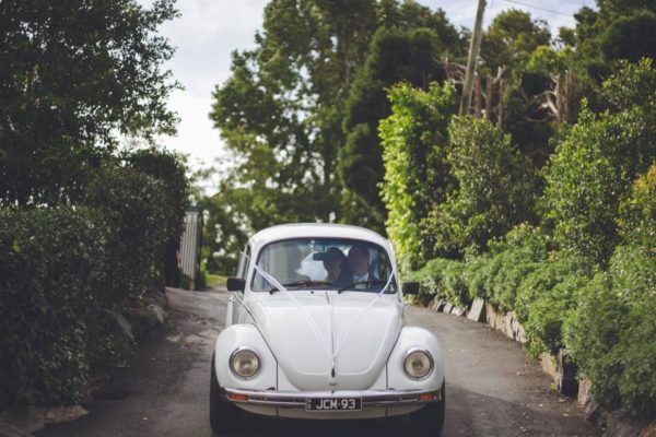 Lucy VW Beetle road