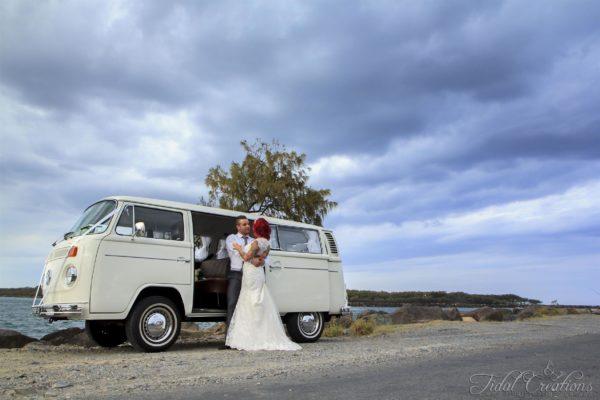 Puff VW Kombi at wedding
